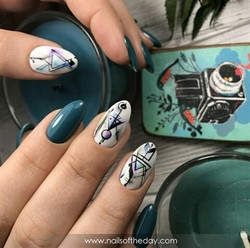 15 Gorgeous Glitter Acrylic Coffin Nails Designs