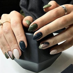 45 Gorgeous Black Nail Designs with Rhinestones Only for you : Check them out!